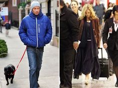 Two photos: 1. A bundled up and pensive David Duchovny out walking his dog. 2. Gillian Anderson, walking through an airport, her face down-turned, her carry-on trailing behind her.  Another fanfiction prompt, obviously.