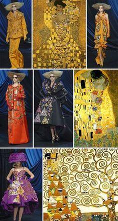 Christian Dior 2008 - clothing line inspired by Gustav Klimt Gustav Klimt, Klimt Art, Fashion History, Fashion Art, Trendy Fashion, The Kiss, Sonia Delaunay, Mode Inspiration, Fashion Inspiration
