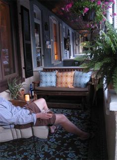 Small front porches are great places to spend time with others - or alone