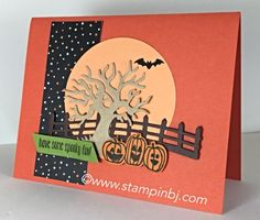 Spooky fun, Halloween Scenes Edgelits, Stampin' up!, BJ Peters, #stampinbj.com, #halloweenscenes, #spookyfun