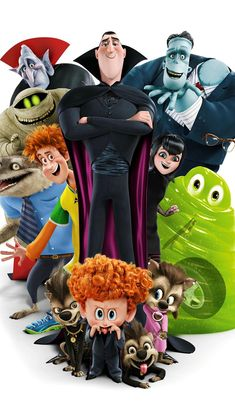 This HD wallpaper is about Hotel Transylvania 2 Poster, Hotel Transylvania characters illustration, Original wallpaper dimensions is file size is Hotel Transylvania 2, Hotel Transylvania Characters, Movie Wallpapers, Cute Cartoon Wallpapers, Best Iphone Wallpapers, 1080p Wallpaper, Disney Animation, Animation Film, Kino Film