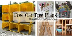 A Collection of Free Cat Tree Plans & Ideas To Inspire & Help You Build Your Own Cat Furniture.