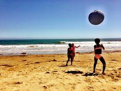 myBalling. Following the curious trend of turning nouns into verbs.  #myballing #myball #exerciseball #yogaball #stabilityball #fun #beach #play #summertime   www.myball.co/shop