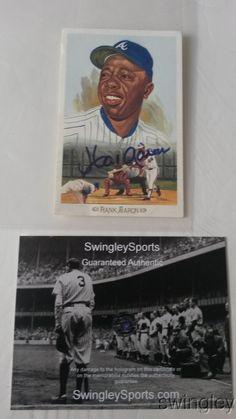 Hank Aaron Signed Perez Steele HOF Baseball Postcard