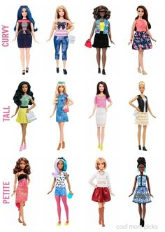 The new Barbie Fashionista line featuring dolls with curvy, tall and petite body types, with the wardrobe to match. Would you buy them?