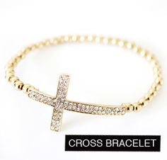 MadeByGirl - shop for pretty things. I'm not usually into crosses but this one is too cute, paired with the skull bracelets.