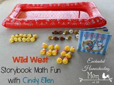 Wild West Storybook Math Fun with Cindy Ellen: Head on out west for some math storybook fun with Cindy Ellen for the Wild West theme of the Poppins Book Nook! #poppinsbooknook #storybookactivities #onlinebookclubforkids