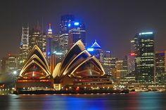 Sydney, Australia by night