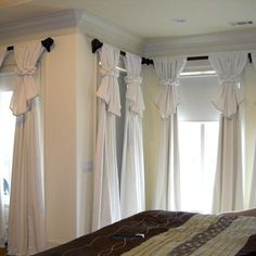 Innovative yet simple curtain design. Love it.