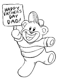 Bear Fathers Day Coloring Page