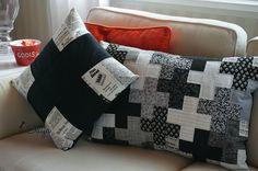Quilted plus pillows Scrap, Throw Pillows, Quilts, How To Plan, Blog, Diy, Artist, Scrappy Quilts, Toss Pillows