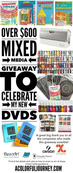 Share This: To celebrate my new DVDs / videodownloads I created with Northlight,I've got an amazing giveaway worth well over $600! I reached out to some of the companies whose products I used in the videos and I was blown away by their generosity! This is going to be one very big and heavy box …
