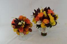 Bridal and bridesmaid bouquet- Fall theme www.plushflowers.ca