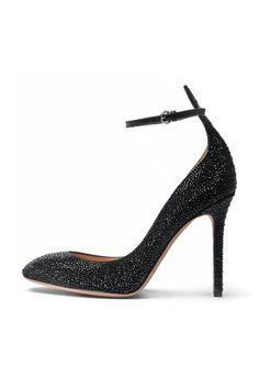 fall 2012, Valentino, shoes, high heels, metallic, black