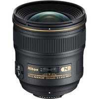 Fast and Wide. Great for shooting indoors at night; and in intimate settings. Nikon AF-S Nikkor 24mm f/1.4G ED Wide Angle Lens $2000