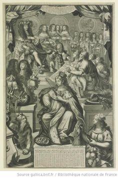 Philippe d'Orleans, Monsieur (1640-1701), and Henriette-Anne of England d'Orleans (1644-1670), in L'ABREGE'DV MONDE DANS LA FRANCE, 1666, French school