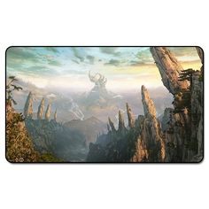 ( Fantasy Landscapes) MTG Playmat, Magical Board The Games Proxy Play Mat,Custom Playmat Design with Free Bag