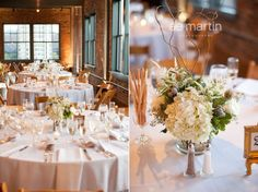 White and neutral centerpiece Wedding Ceremony Flowers & Reception Decor by Renee's Bokays