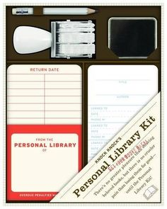 Personal Library Kit by Knock Knock. $15.00. Publisher: Knock Knock (March 1, 2011). Publication: March 1, 2011
