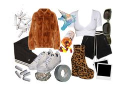 """HAHAHAHAHA"" by elalmacenderisas ❤ liked on Polyvore featuring adidas, Marni, Gucci, Shellys, Polaroid and PAM"
