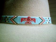 Thunderbird Beaded Hat Band ~ Native American Beaded Hatband Design