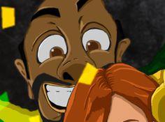 World Cup Selfie. Brazilian bloke Created by NAOKI STUDIOS Graphic design studio in Gold Coast