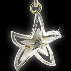 ciondolo in oro 18kt madreperla e diamanti - Silvia Kelly