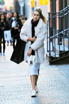 runwayandbeauty:  Gigi Hadid out and about in New York City...