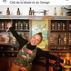 "ApronStudio on Instagram: ""Apron on the job in Paris! #citydelamodeetdudesign #p#apronguru #bootleggers_paris #thankyou #cedric"" Copper Color, Flamingo, Christmas Sweaters, Apron, Leather, Cotton, Instagram, Fashion, Flamingo Bird"