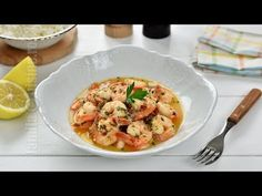Creveti in sos de citrice (CC Eng Sub) Shrimp, Goodies, Pasta, Lunch, Meat, Healthy, Recipes, Food, Sweet Like Candy
