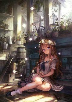 Kawaii Anime Girl, Manga Kawaii, Pretty Anime Girl, Beautiful Anime Girl, Anime Art Girl, Anime Love, Anime Girls, Cute Manga Girl, Anime School Girl