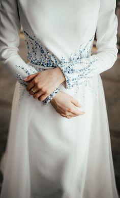 Cinderella Wedding Dresses With Sleeves Abaya Fashion, Muslim Fashion, Modest Fashion, Fashion Dresses, Date Dresses, Modest Dresses, Dress Outfits, Dresses Dresses, Abaya Mode