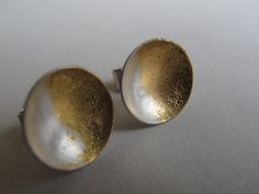Brincos - Eu tenho o sol... (prata 925 e folha de ouro) Earrings - I have the sun... (silver 925 and gold)