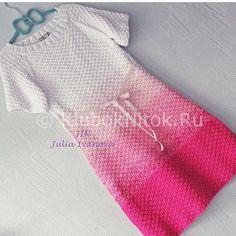 Красивые платья с градиентом | Вязание для женщин | Вязание спицами и крючком. Схемы вязания.