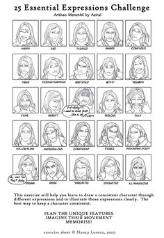 Artes, cats and 25 emotions) - Top 99 Pencil Drawings Male Face Drawing, Guy Drawing, Drawing Reference, Expression Challenge, Comic Book Drawing, Expression Sheet, Supergirl Comic, Lich King, Black And White Comics