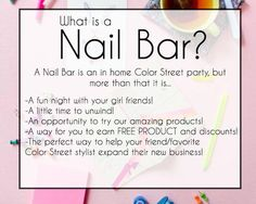COLOR STREET Nail Bar #colorstreet #nails http://www.mycolorstreet.com/Lucie