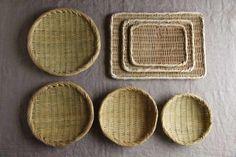 Bamboo Basket, Rattan Basket, Wicker, Bamboo Weaving, Basket Weaving, Palm Frond Art, Artisan Works, Japanese Kitchen, Bamboo Crafts