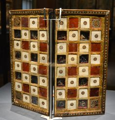 Chess board made in Vienna in the first half of the 14th century.