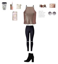 """""""I want you"""" by sarahballerina01 ❤ liked on Polyvore featuring Miss Selfridge, MANGO, Chloe + Isabel, Hollister Co., Rebecca Minkoff, Benefit, Lenox and Dolce&Gabbana"""