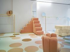 Boutique RED Valentino in London is designed by India Mahdavi