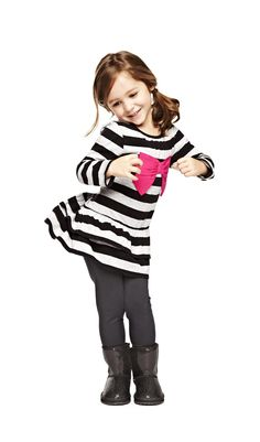 6be5786028ad absolutely adorable –  Carter White White s Babies and Kids gray stripe  tunic and leggings Little