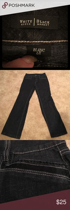 ✨Black Jeans✨ White House Black Market Jeans.  In like new condition. Size is 6R. White House Black Market Jeans Boot Cut