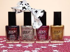 Review of Avon Magic Effects Liquid Sequin Nail Polishes (Dazzle, Glitterati, Glimmer)