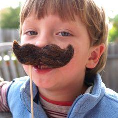 Wool Moustache, handmade mustache woolly hairy fun Halloween Costume funny boy man beard pretend play dress up Waldorf. $18.00, via Etsy.
