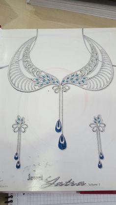 . Jewelry Ads, Jewelry Tools, Bridal Jewelry, Jewelry Crafts, Jewelery, Vintage Jewelry, Jewelry Design Drawing, Jewelry Illustration, Jewellery Sketches