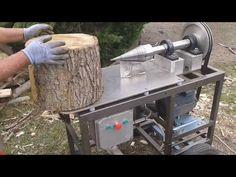 Postanowiłem wam pokazać nasze wspólne dzieło czyli rębak świdrowy do drewna. Silnik o mocy 4kW przełożenie pasowe 1do3 1400obr/min i żaden kawał drewna nie ... Wood Axe, Wood Logs, Wood Projects, Woodworking Projects, Log Splitter, Log Store, Firewood Storage, Homemade Tools, Wood Cutting