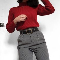 Outfits season 2018 that you can use to go to work - Source by Outfits oficina Punk Outfits, Mode Outfits, Winter Outfits, Casual Outfits, Fashion Outfits, Womens Fashion, Fasion, Fashion Clothes, Fashion Ideas