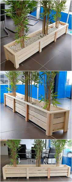 Simple choose out the impressive appearance of this old shipping pallet made large planter idea. Easy Wood Projects, Diy Pallet Projects, Pallet Ideas, Woodworking Projects, Used Pallets, Wooden Pallets, Palette Diy, Pallet Patio, Pallet Planters