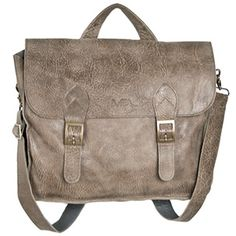 """Mujo Leather Messenger - Made in Israel. 14""""l x 12.5""""h x 3""""w. Shoulder strap 54."""" MAL Leather Design."""