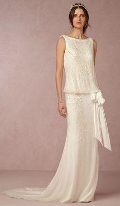 Arabella gown - beaded Art Deco wedding dress from @BHLDN